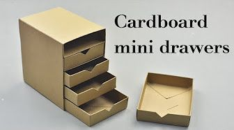 Cardboard Organizer Diy Best Out Of Waste Project Ezycraft