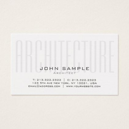 Creative Architecture Professional Premium Linen Business Card   Modern  Gifts Cyo Gift Ideas Personalize