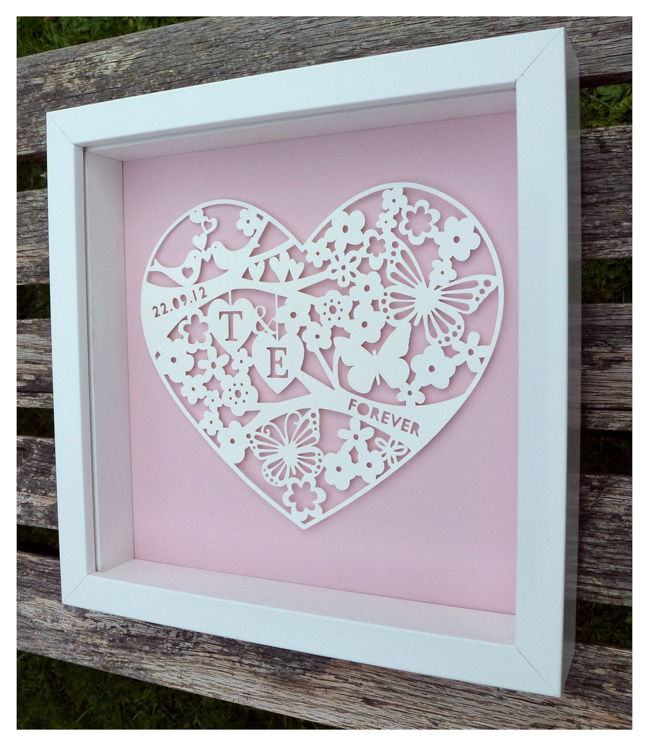 example0th wedding anniversary newspaper announcements%0A Bespoke Paper Cut Wedding Frames