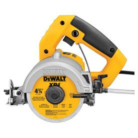 Dewalt 4 375 In 0 Wet Dry Handheld Tile Saw Lowes Com Tile Saw Dewalt Masonry