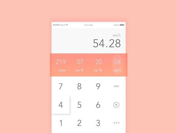 43 Calculator App UI Design for Inspiration - Smashfreakz | UI