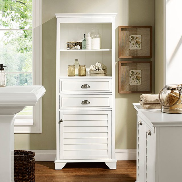 Tall White Bathroom Cabinet Lydia In