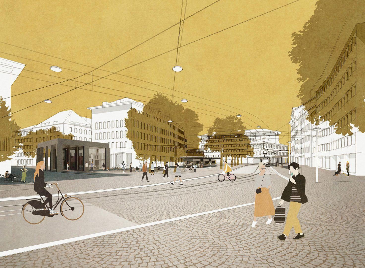 Marktplatz St. Gallen - Ronen Bekerman - 3D Architectural Visualization & Rendering Blog