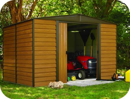 Arrow 10x6 Woodridge Metal Storage Shed Kit Wr106 Steel Storage Sheds Metal Storage Sheds Shed Storage