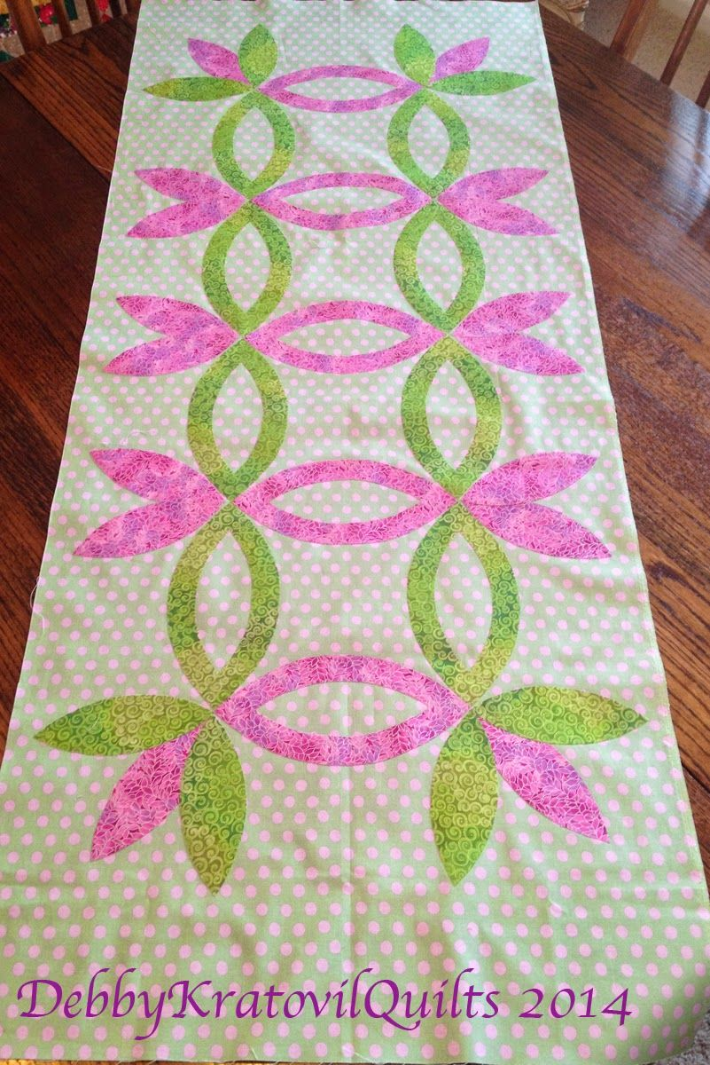 Debby Kratovil Quilts:uses Two template set in my EZ Double Wedding ...