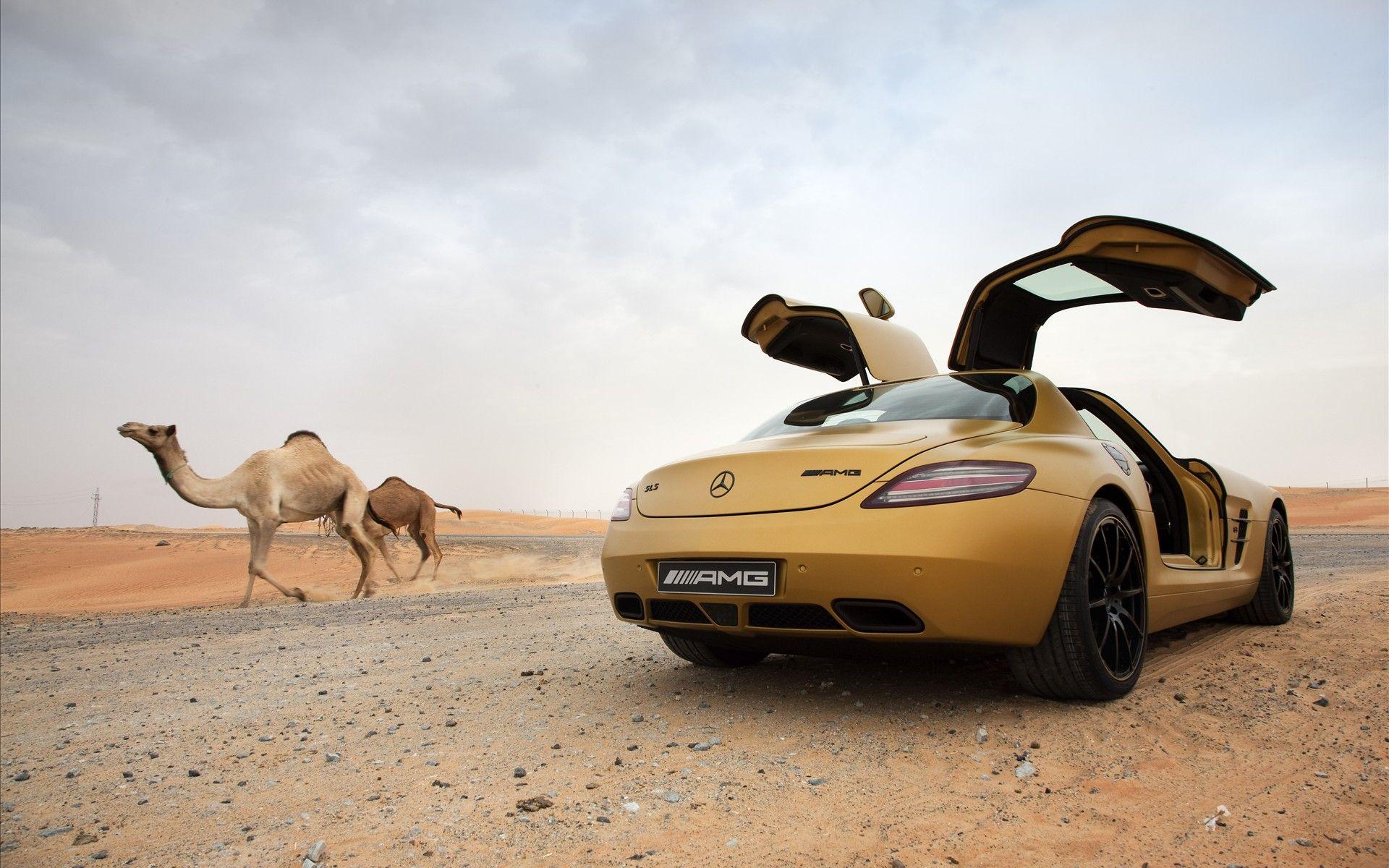 New Mercedes Benz Sls Amg Desert Gold Wallpapers Download Free