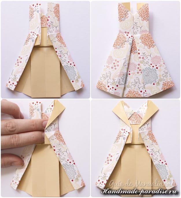 Открытка оригами на 8 марта платье, добрым утром ирочка