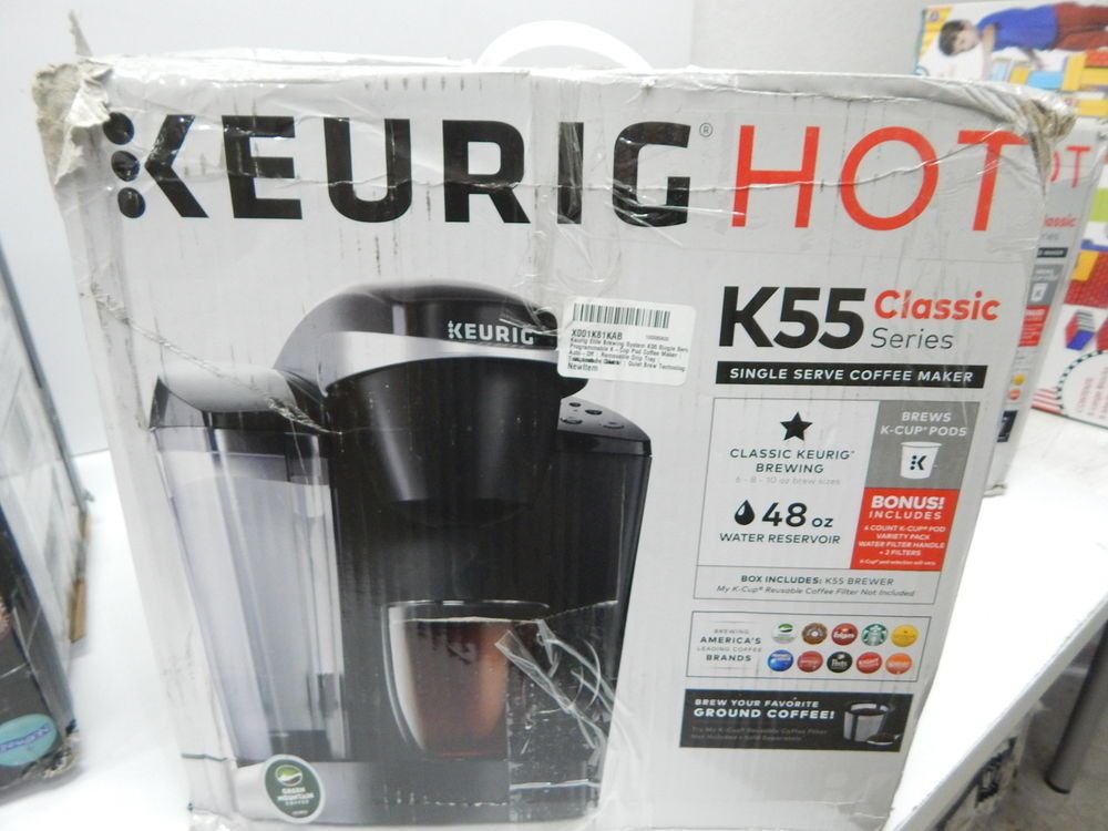 keurig k55 coffee maker. Keurig K55 Single Serve Programmable K-Cup Pod Coffee Maker, Black OPEN BOX Maker