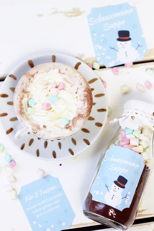 heiße schokolade im glas selber machen: originelle diy geschenk idee