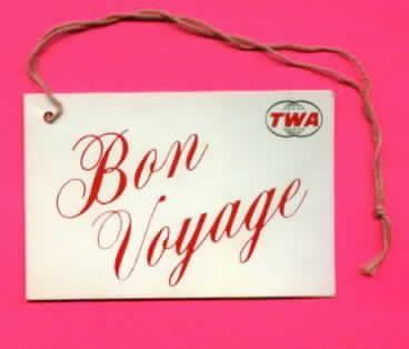 TWA Bon Voyage Card