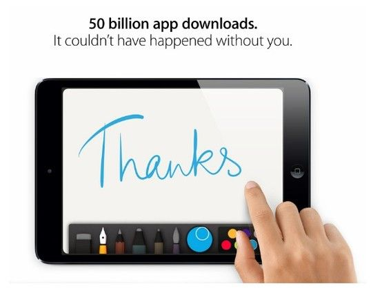 Apple is currently celebrating their 50 billionth app