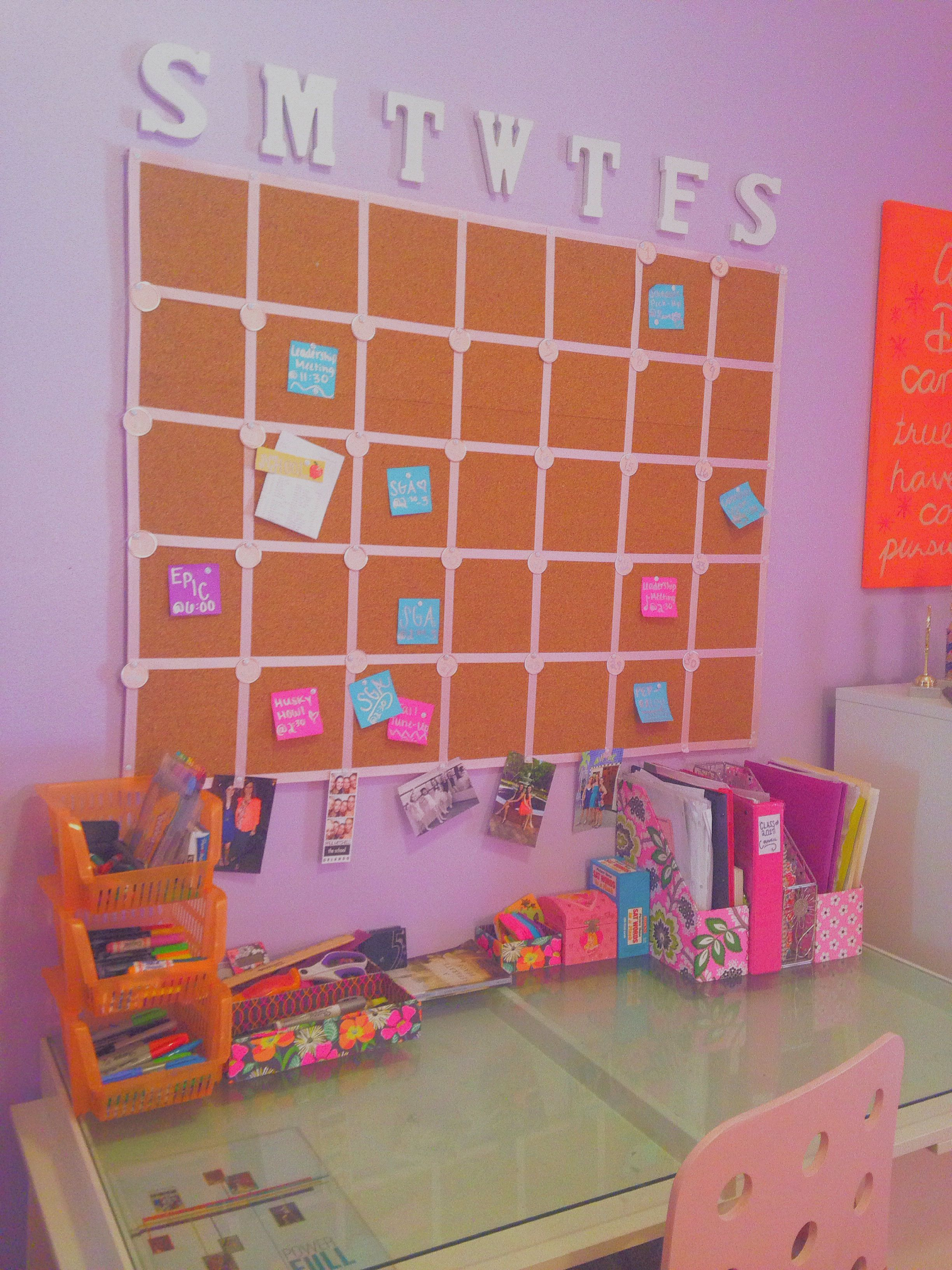 Diy Cork Board Calendar For Office And Family Life Style