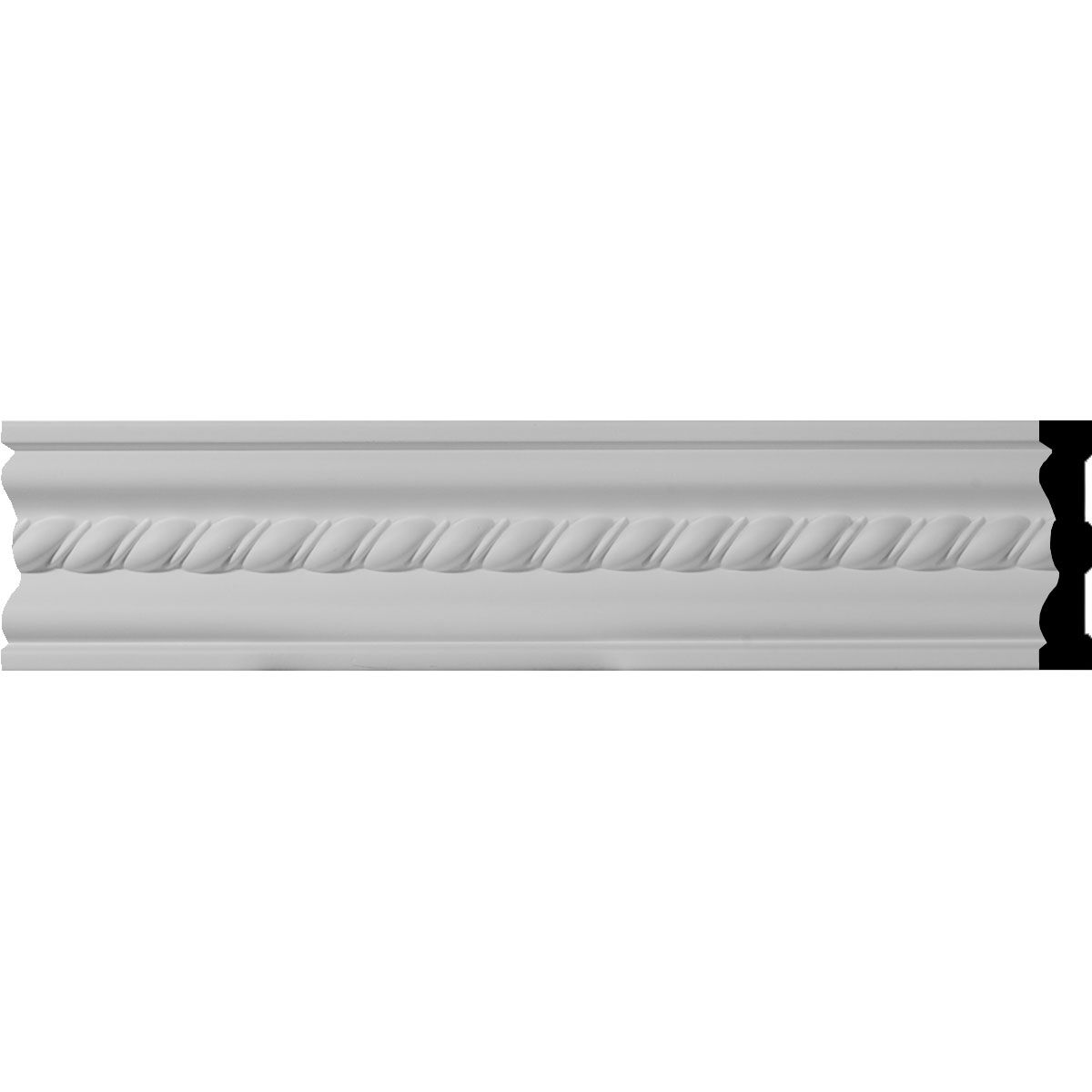 4 Inch H X 3 4 Inch P X 94 1 2 Inch L Oslo Rope Chair Rail Or Casing Moulding Panel Moulding Chair Rail Molding Wall Treatments