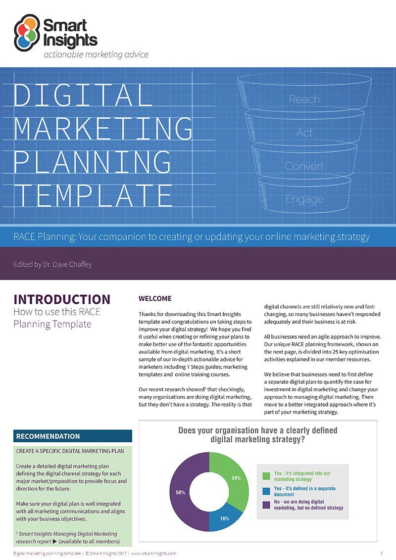This marketing plan template is based on Dan and Dave's