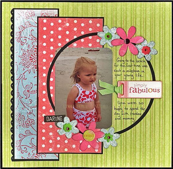 Simply Fabulous Scrapbook Scrapbook Layouts Pinterest