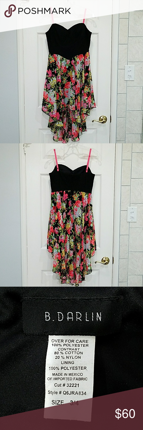 B darlin black lace dress  B Darlin dress  Pink yellow Customer support and Delivery