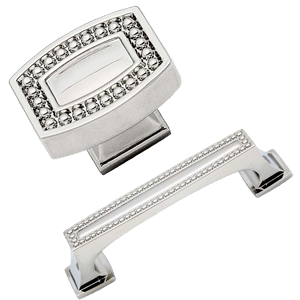 Cabinet Hardware - KraftMaid Pearl Beaded Collection. I absolutely love  this hardware. It was