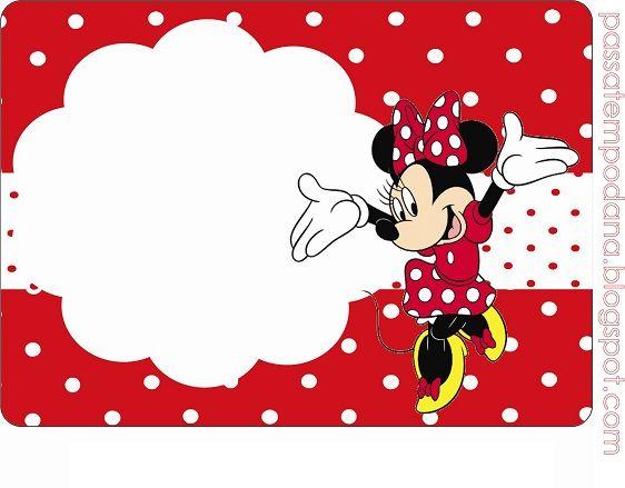 Etiquetas De Minnie Invitaciones De Cumpleaños De Minnie