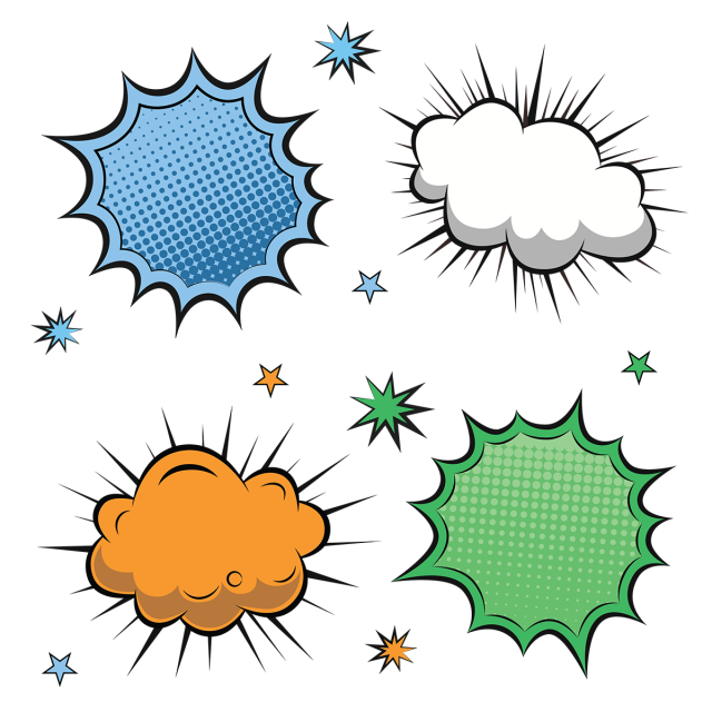 Colorful Comic Label Collection, Comic, Speech PNG and