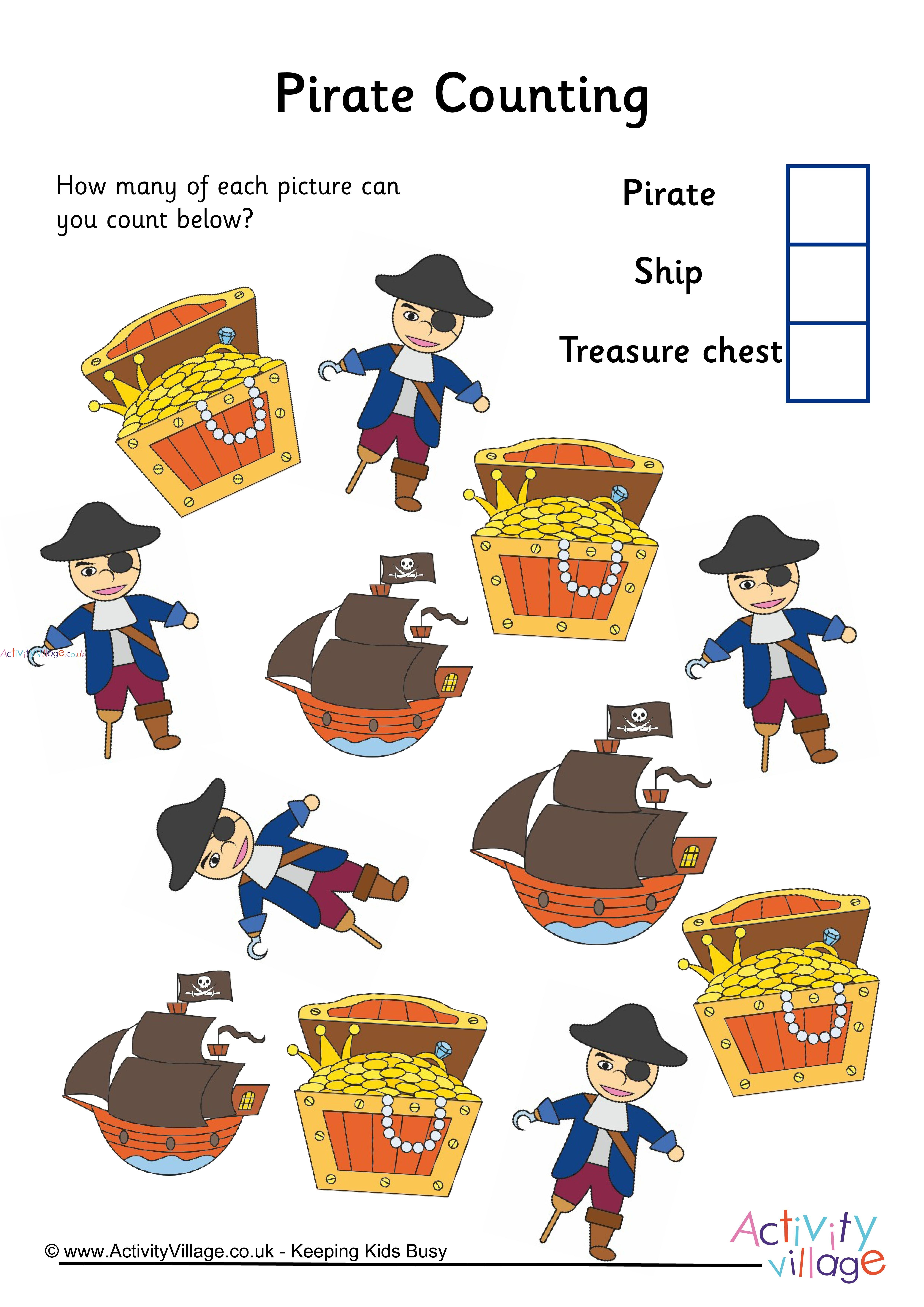 Pirate Counting 3