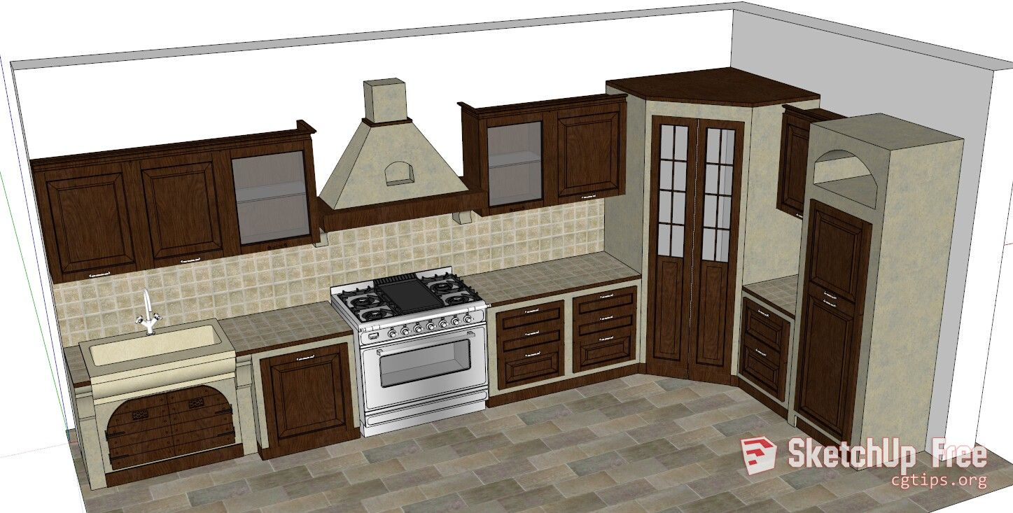 Clean Bright Kitchen Modeled In Sketchup Kitchenbathroomdesignsoftware Modern Kitchen Design Bathroom Design Software Interior Design Kitchen