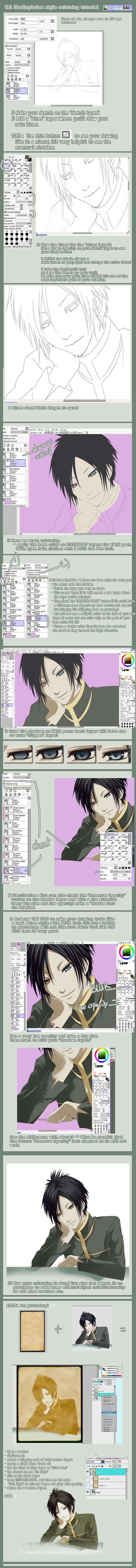 Anime Style Colouring Tutorial By Kuro Mai Deviantart Com On Deviantart Coloring Tutorial Anime Style Tutorial