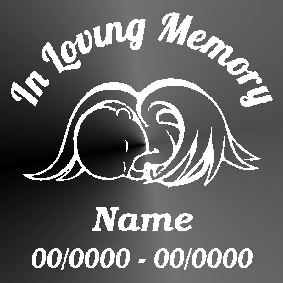 Memorial Decal Sticker Cut Vinyl Car Truck Jeep Baby Angel Car - Vinyl car decals for windows