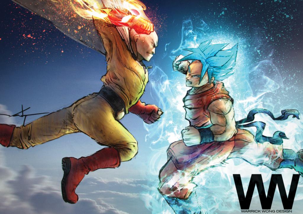 Saitama V Goku By Walek05 On Deviantart One Punch Man Anime One Punch Man Funny Saitama One Punch Man