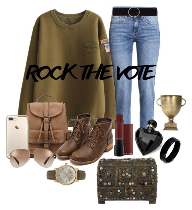 """""""rock the vote"""" by aries-indonesia ❤ liked on Polyvore featuring Marc by Marc Jacobs, Lipsy, Vero Moda, BKE and West Coast Jewelry"""
