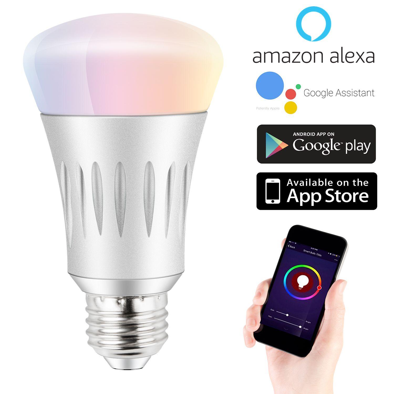 Expower Smart Wifi Light Smart Bulb Dimmable 6 5w Rgb Led Bulb