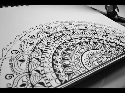 Doodle Art Zentangle Art Mandala Step By Step Youtube Doodle Art Zentangle Art Doodle Art Drawing