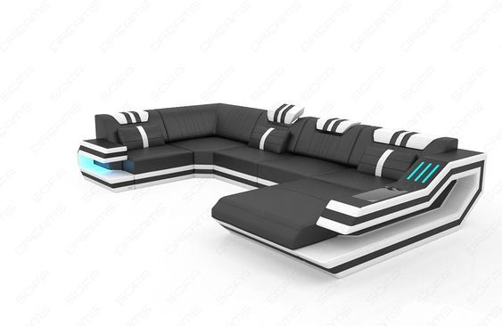 Design Sectional Sofa Hollywood U Shape With Led And Usb Em 2020