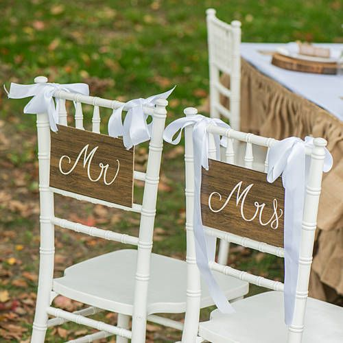 Rustic Romance Custom Chair Signs