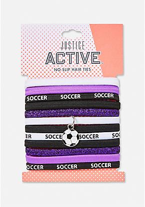 12 Pack Soccer Goals Hair Ties  91aadd412c5