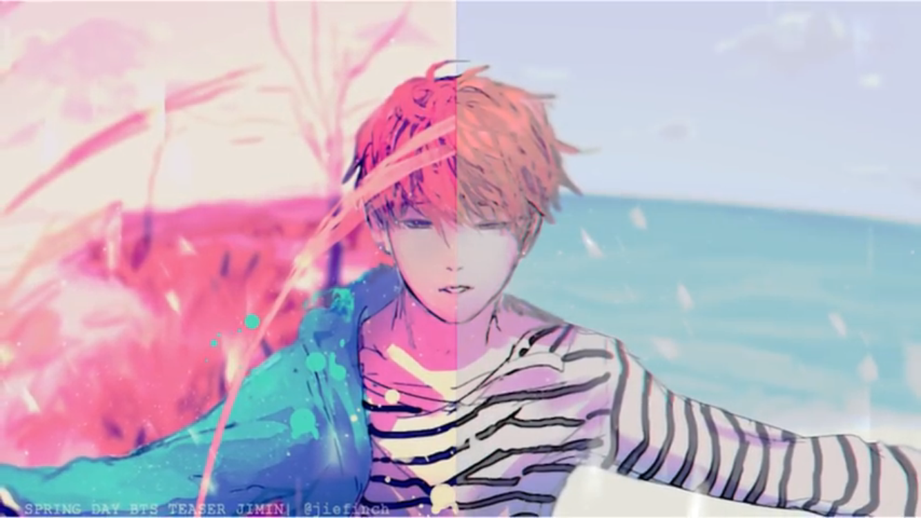 Bts Jimin Spring Day Fanart By Jie Finch (YouTube)