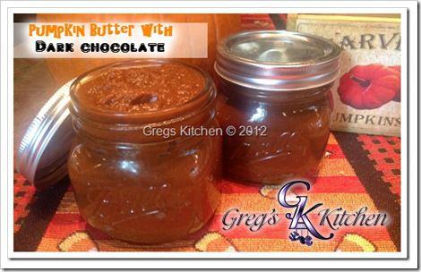 Pumpkin Butter with Dark Chocolate Dip