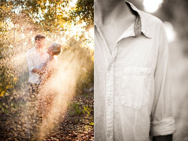 Me gusta la foto de la izquierda, como refleja luz y la naturaleza rodeando a la pareja!