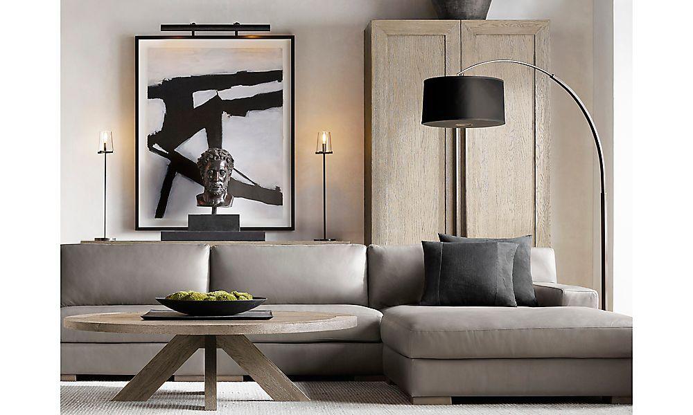 rooms  rh modern  restoration hardware living room