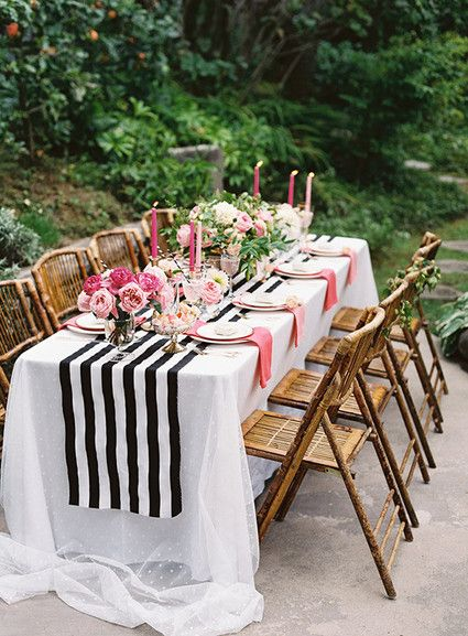 Pink Black And Gold Dinner Party Tablescape Table Decorations Dinner Party Party Table