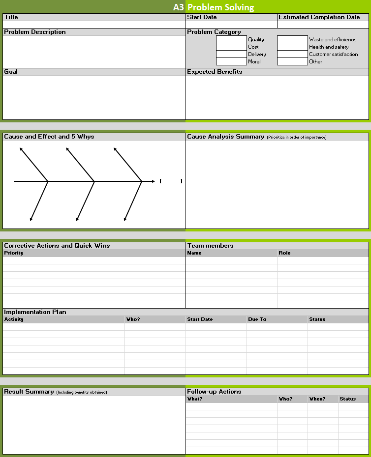 a3 report template 7