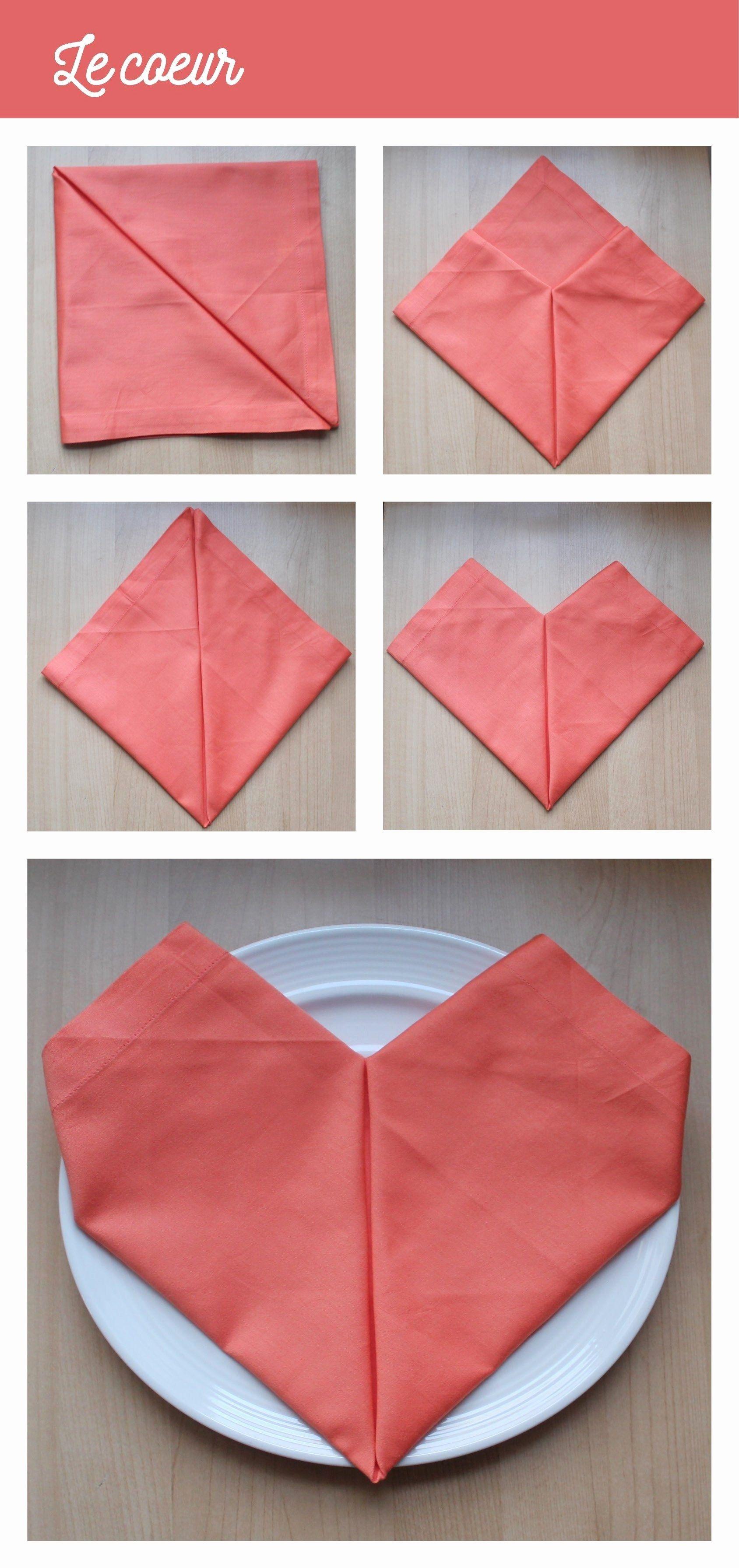 Unique Pliage Serviette Facile Rapide | Pliage serviette ...