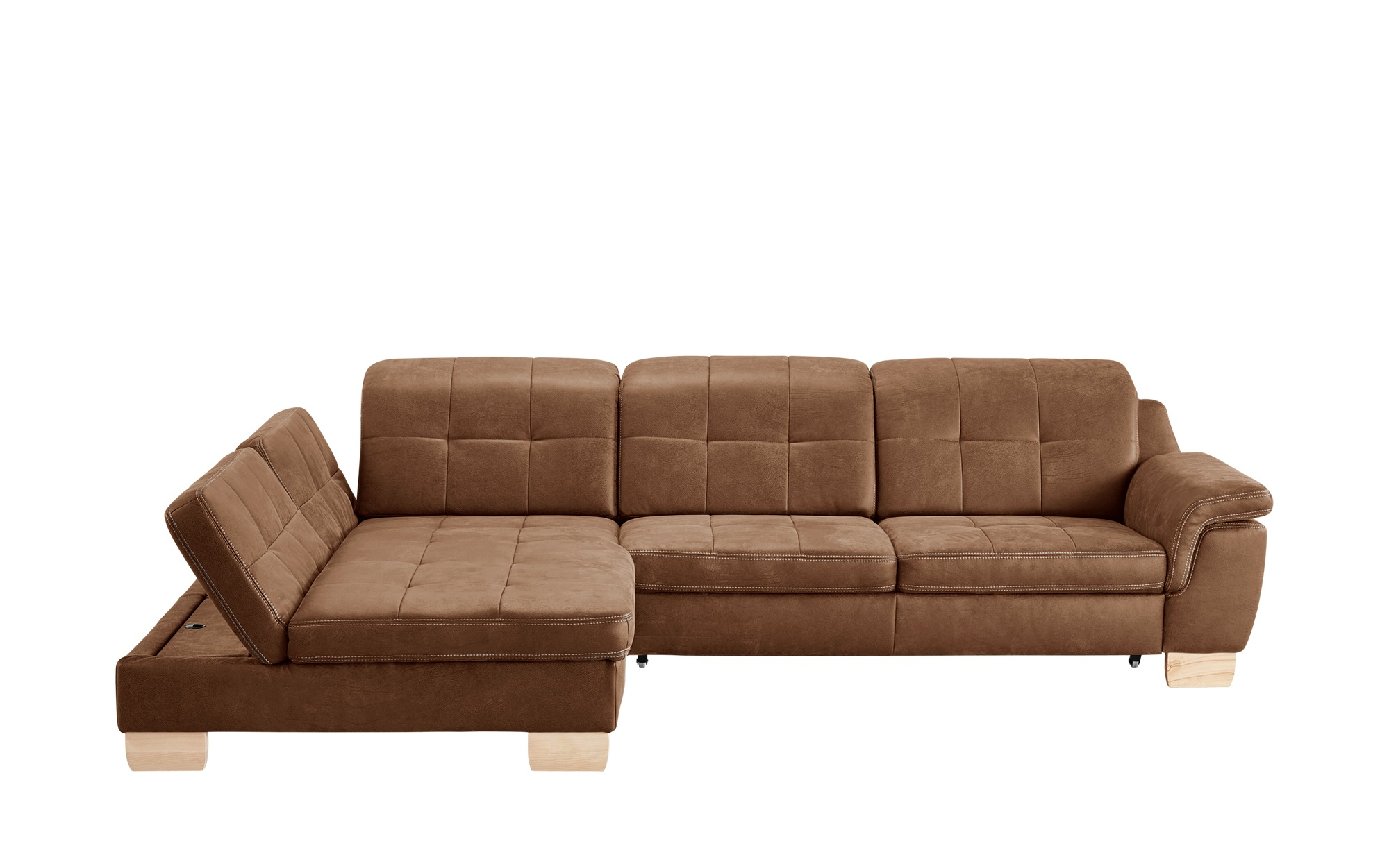 Meinsofa Ecksofa Maris Gefunden Bei Mobel Hoffner Ecksofa Braun Kunstleder Couch Sofa