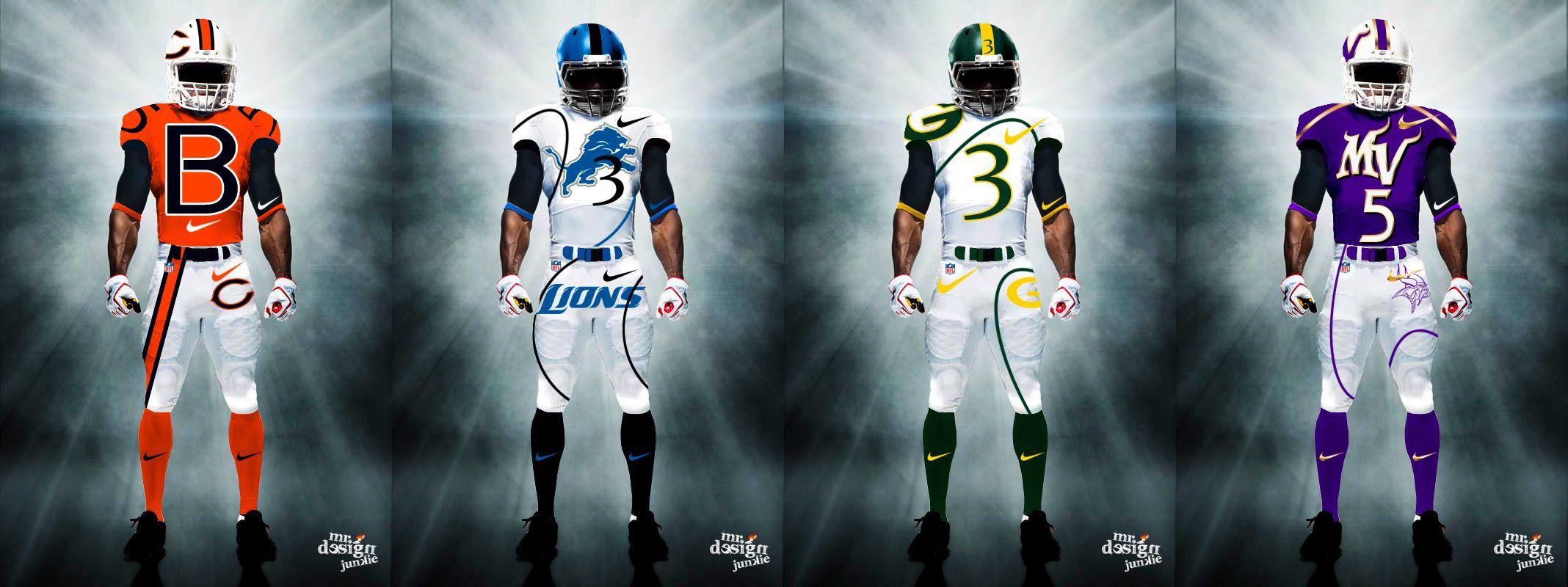 9a0c543cc NFC North Uniforms - http   www.fantasyhelp.com 2014