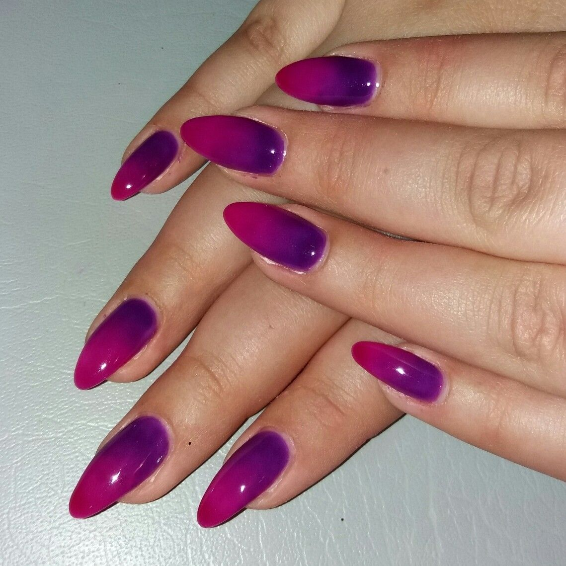 Purple And Pink Ombre Nails Pink Ombre Nails Purple Ombre Nails Ombre Nails