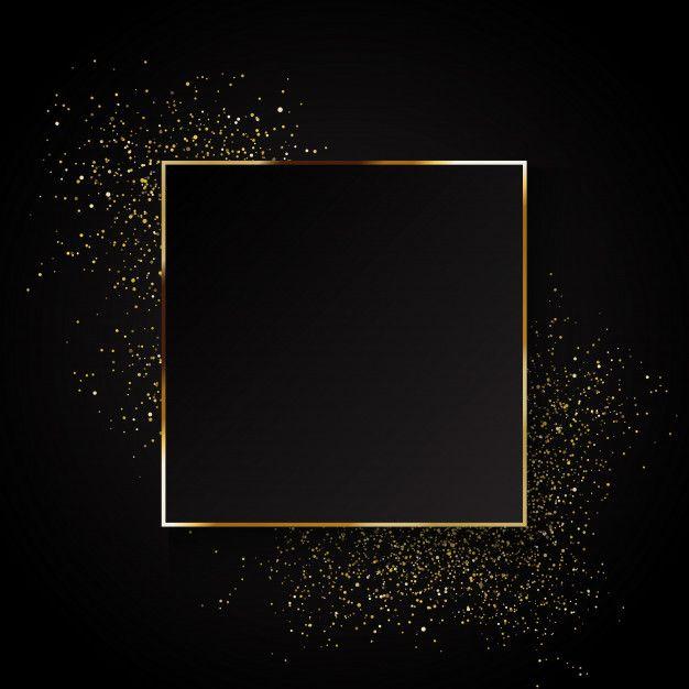 Elegante fondo dorado brillante. vector gratuito #goldglitterbackground