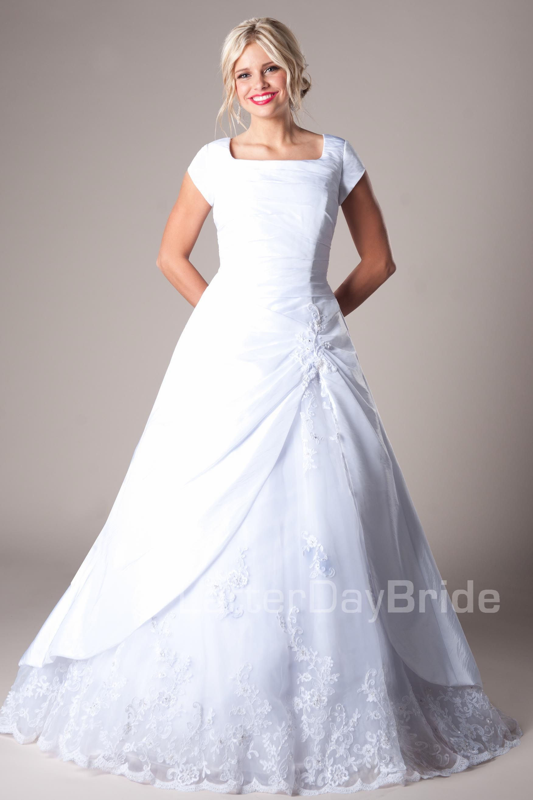 Kaori Modest Wedding Dress Latter Day Bride & Prom Gateway Bridal ...