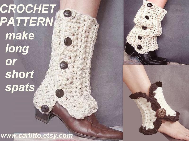 CROCHET Pattern- legwarmers, make them to fit any size leg.#109 ...