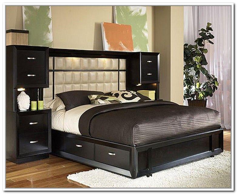 Bed frame storage headboard king bed frame queen bed