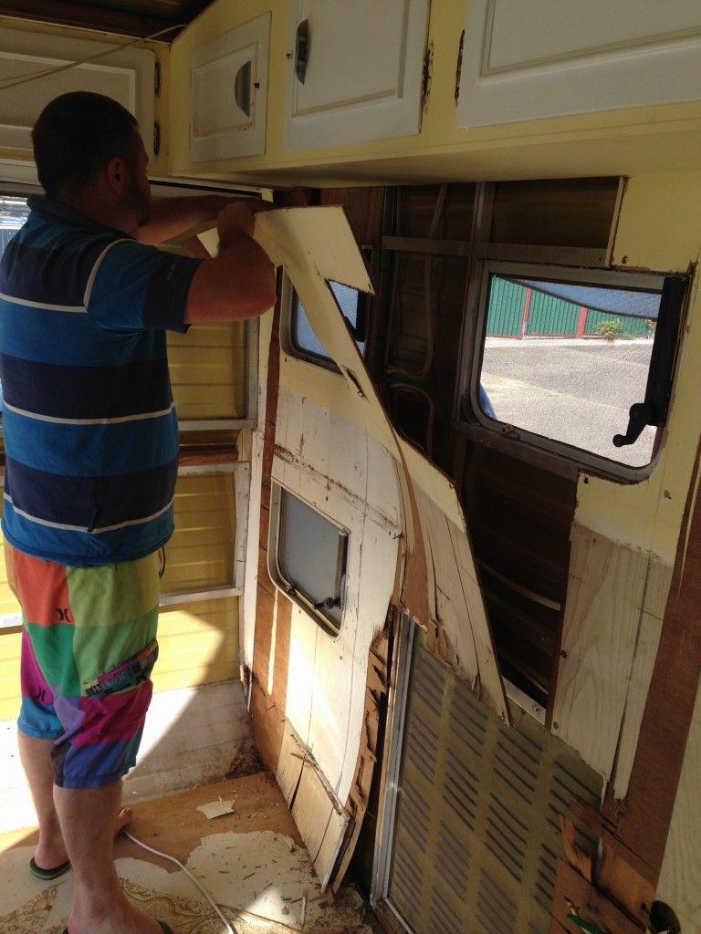 Stripping Out Caravan Internal Lining Rv Pinterest