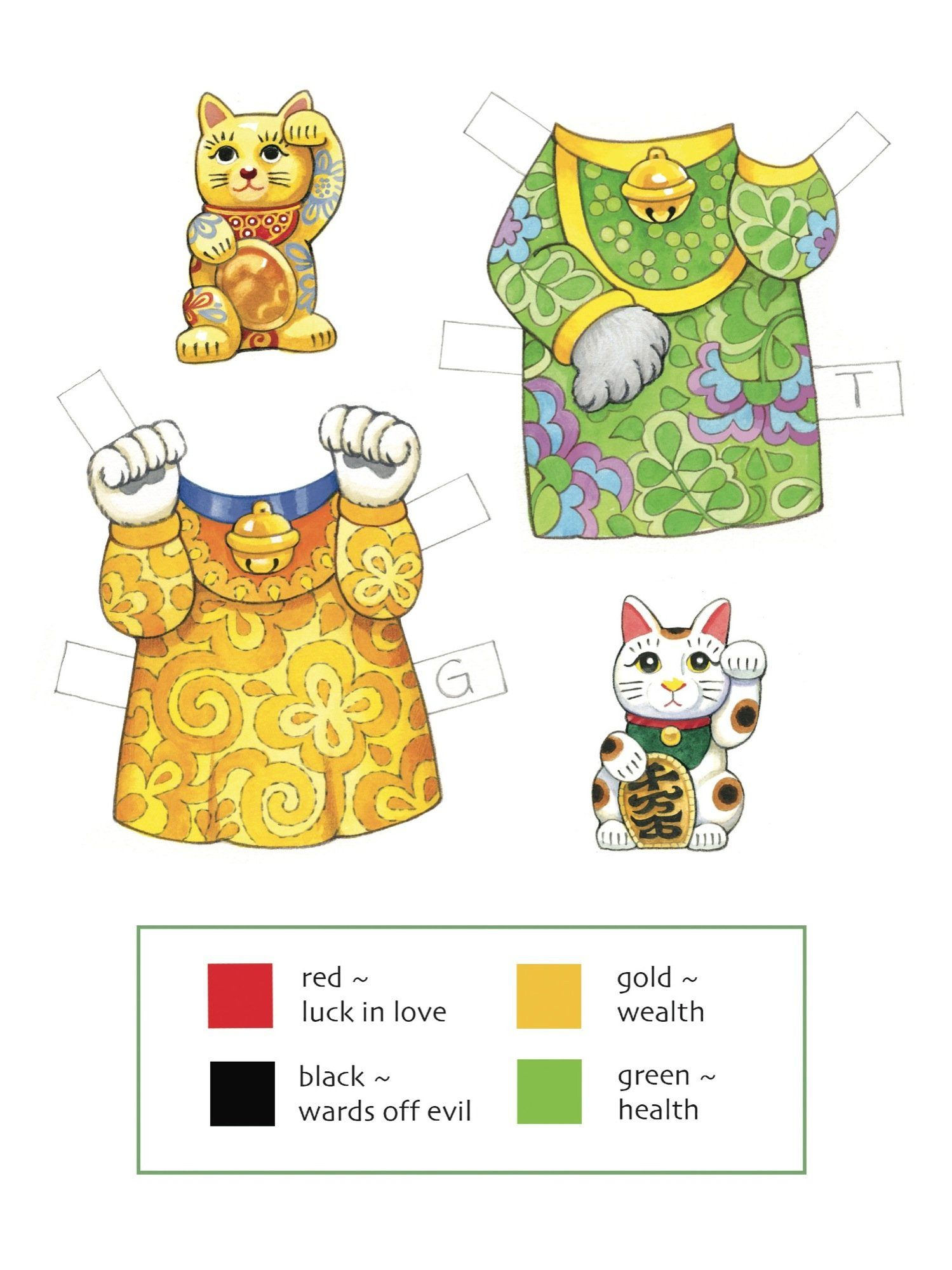 Lucky Cats Paper Dolls: Maneki Neko (Dover Paper Dolls ... - photo#36